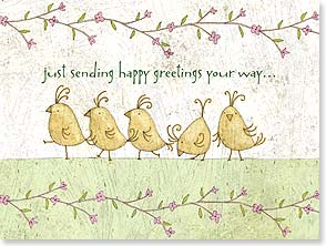 Thank You & Appreciation Card - Just sending happy greetings your way...; John 1:16 | Tim Coffey | 15696 | Leanin' Tree