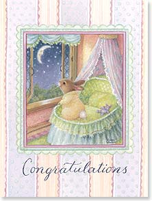 Baby Congratulations Card - Wishing you more blessings than the Heavens have stars. | Susan Wheeler | 15771 | Leanin' Tree