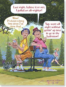 Birthday Card - Hope the fun lasts all day and night! | Mike Scovel | 15807 | Leanin' Tree
