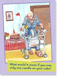 Birthday Card - It would mean your odometer has finally turned over. | Boots Reynolds | 15809 | Leanin' Tree