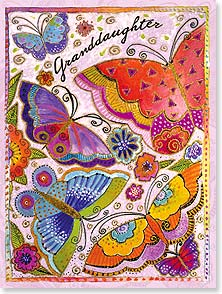 Birthday Card - Granddaughter - May flowers bloom & butterflies take wing just for you. | Laurel Burch® | 15844 | Leanin' Tree