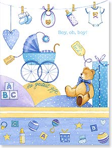 Baby Congratulations Card - Boy, oh, boy! What do you know - It's a boy! | Tricia Harrison | 15857 | Leanin' Tree