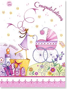 Baby Congratulations Card - A miracle how something so tiny bring so much sweetness. | Tricia Harrison | 15858 | Leanin' Tree