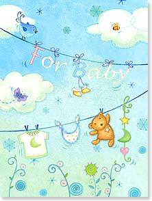 Baby Congratulations Card - For someone who's more than a little special! | Viv Eisner | 15859 | Leanin' Tree