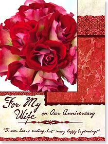 Anniversary Card - Wife - For Wife | Forever Has No Ending | Phillips Allrich | 15861 | Leanin' Tree