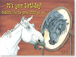 Birthday Card - Celebrate Like The Young Stud | Bonnie Shields | 15990 | Leanin' Tree