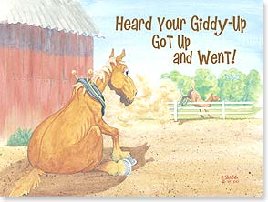 Get Well Card - Funny | Giddy-Up Got Up And Went | Bonnie Shields | 15996 | Leanin' Tree