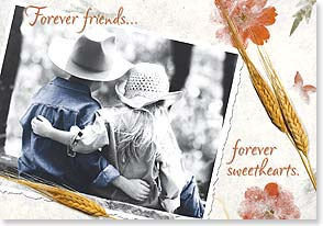 Anniversary Card - Forever Friends...Forever Sweethearts.  Happy Anniversary | Christina Bynum Breaux | 16326 | Leanin' Tree