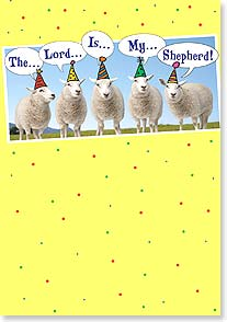 Birthday Card - The Lord Is My Shepherd - 16457 | Leanin' Tree