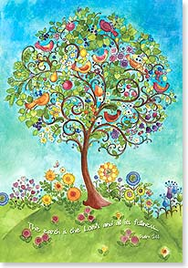 Friendship Card - A gift from God, an answered prayer w/ Psalm 24:1 | Sue Zipkin | 16462 | Leanin' Tree
