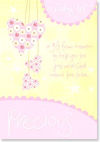 Baby Congrats - Girl - A Precious Baby Girl | Intrinsic by Design® | 16465 | Leanin' Tree