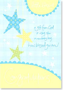 Baby Congrats - Boy - A New Baby Boy | Intrinsic by Design® | 16466 | Leanin' Tree