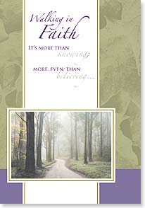 Encouragement & Support Card - You never walk alone w/ 2 Corinthians 13:11 | Masterfile Corporation | 16467 | Leanin' Tree