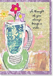 Friendship Card - Thoughts of You Bring a Smile | Marianne Richmond | 16592 | Leanin' Tree