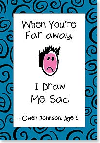 Miss You Card - Draw Me Sad - 16623 | Leanin' Tree
