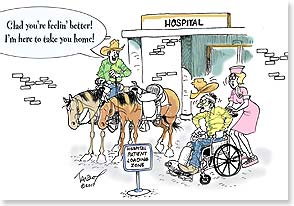 Get Well Card - Hospital Loading Zone | Daryl Talbot | 16685 | Leanin' Tree