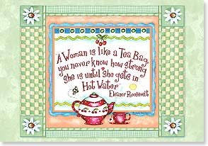 Encouragement & Support Card - A Woman is Like a Tea  | Barbara Ann Kenney | 16723 | Leanin' Tree