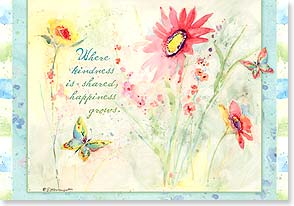 Thank You Card - Staff Pick - Where Happiness Grows | Susan Winget | 16750 | Leanin' Tree