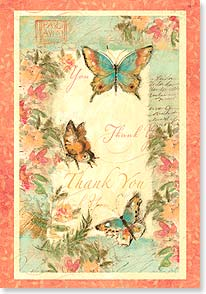 Thank You & Appreciation Card - Butterfly Thanks | Susan Winget | 16751 | Leanin' Tree