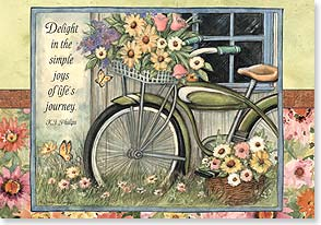 Blank Card with Quote / Saying - Delight in the simple joys of life's journey. | Susan Winget | 16778 | Leanin' Tree