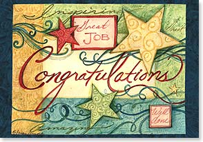Congratulations Card - You aimed. You reached. Welcome to the stars! | Susan Winget | 16779 | Leanin' Tree