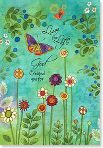 Birthday Card - Joy & Inspiration; Jeremiah 29:11  | Sue Zipkin | 16791 | Leanin' Tree