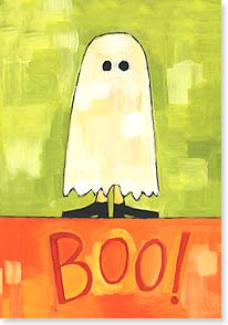 Halloween Card - Halloween Hello From Boo-Know-Who! | Ursula Dodge | 16799 | Leanin' Tree