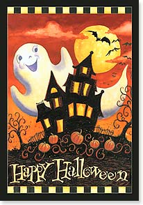 Halloween Card - Wishing You Smiles Bright As The Moon  | Geoff Allen | 16804 | Leanin' Tree