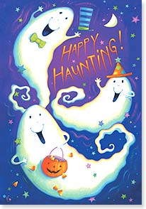 Halloween Card - Hope You Get To Scare Up Some Fun!  | Viv Eisner | 16807 | Leanin' Tree