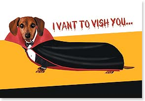 Halloween Card - Vishing you a Happy Halloweenie! | bCreative Inc. | 16809 | Leanin' Tree