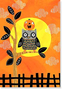 Halloween Card - Hope Your Halloween's a Real Hoot!  | Ellen Krans | 16811 | Leanin' Tree