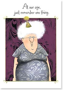 Birthday Card - Remember one thing and you're doing well | Leslie Moak Murray | 16908 | Leanin' Tree