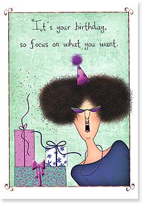Birthday Card - One less year to get what you want | Leslie Moak Murray | 16910 | Leanin' Tree