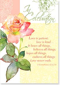 Anniversary Card - Such a love; 1 Corinthians 13:4,7-8 | Gail Flores | 16945 | Leanin' Tree