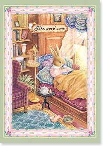 Feel Better Card - Warm and fuzzy wishes to feel better. | Susan Wheeler | 16981 | Leanin' Tree