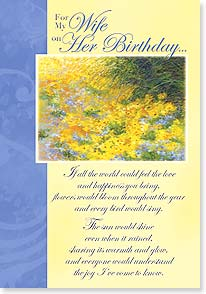 Birthday Card - Wife - Happy Birthday to the Love of My Life | Sherri Buck Baldwin | 16988 | Leanin' Tree