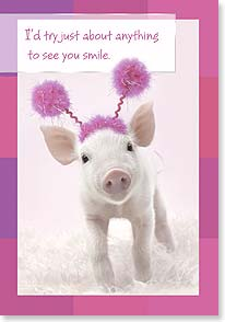 Thinking of You Card - Anything to make you smile.   | Wild-Side Brands Ltd | 18276 | Leanin' Tree