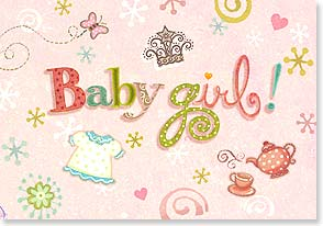 Baby Congrats - Girl - I bet she's got you wrapped around her little finger. | Viv Eisner | 18329 | Leanin' Tree