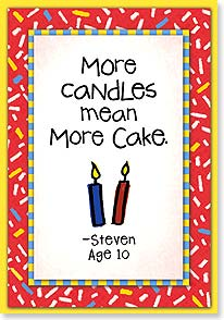 Birthday Card - More Candles Mean More Cake | Kate Harper | 18334 | Leanin' Tree