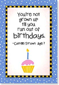 Birthday Card - Don't keep count...we'll be kids forever! | Kate Harper | 18336 | Leanin' Tree