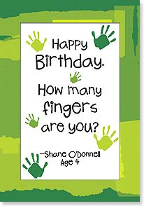 Birthday Card - Act Your Fingers | Kate Harper | 18339 | Leanin' Tree