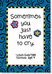 Care &amp; Concern Card - Sometimes You Just Have To Cry | Kate Harper | 18355 | Leanin' Tree