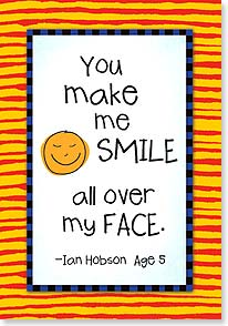 Thank You Card - Staff Pick - You make Me Smile | Kate Harper | 18362 | Leanin' Tree