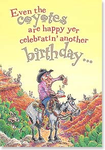 Birthday Card - It's Easier To Separate The Old and Feeble From the Herd! | Crash Cooper | 18555 | Leanin' Tree