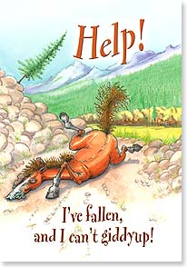 Feel Better Card - Fallen and Can't Giddyup | Daryl Reed | 18574 | Leanin' Tree