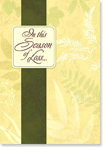 Sympathy Card - Season of Loss | LT Studio | 18611 | Leanin' Tree