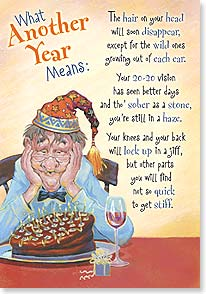 Birthday Card - Funny | What Another Year Means | Mike Scovel | 18672 | Leanin' Tree