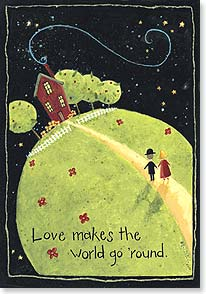 Anniversary Card - Love Makes The World Go 'Round | Dan DiPaolo | 18738 | Leanin' Tree