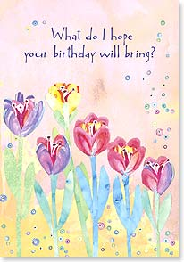 Birthday Card - Bloomin' Birthday Wishes | Wendy Bentley | 18746 | Leanin' Tree
