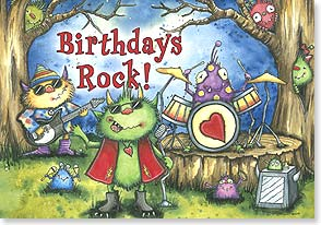 Birthday Card - Birthdays Rock!  And so do you! | Robin Davis | 18753 | Leanin' Tree